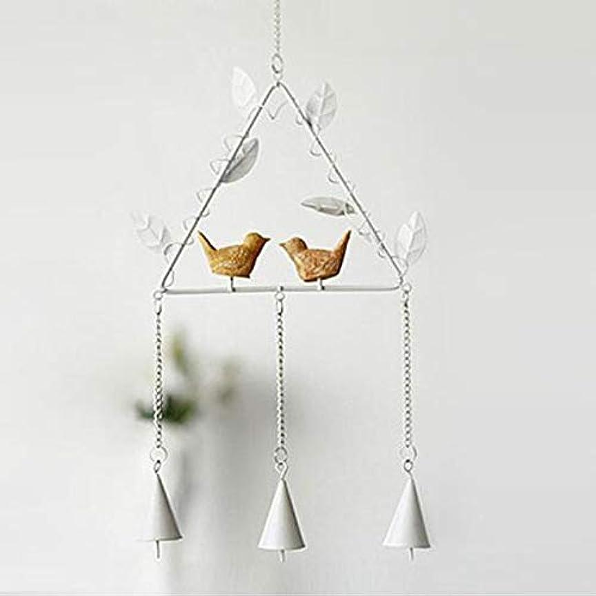 回転するアッパーオープナーYougou01 風チャイム、アイアンクリエイティブ手作りの鳥風チャイム、グレー、全身について56センチ 、創造的な装飾 (Color : Triangle White)