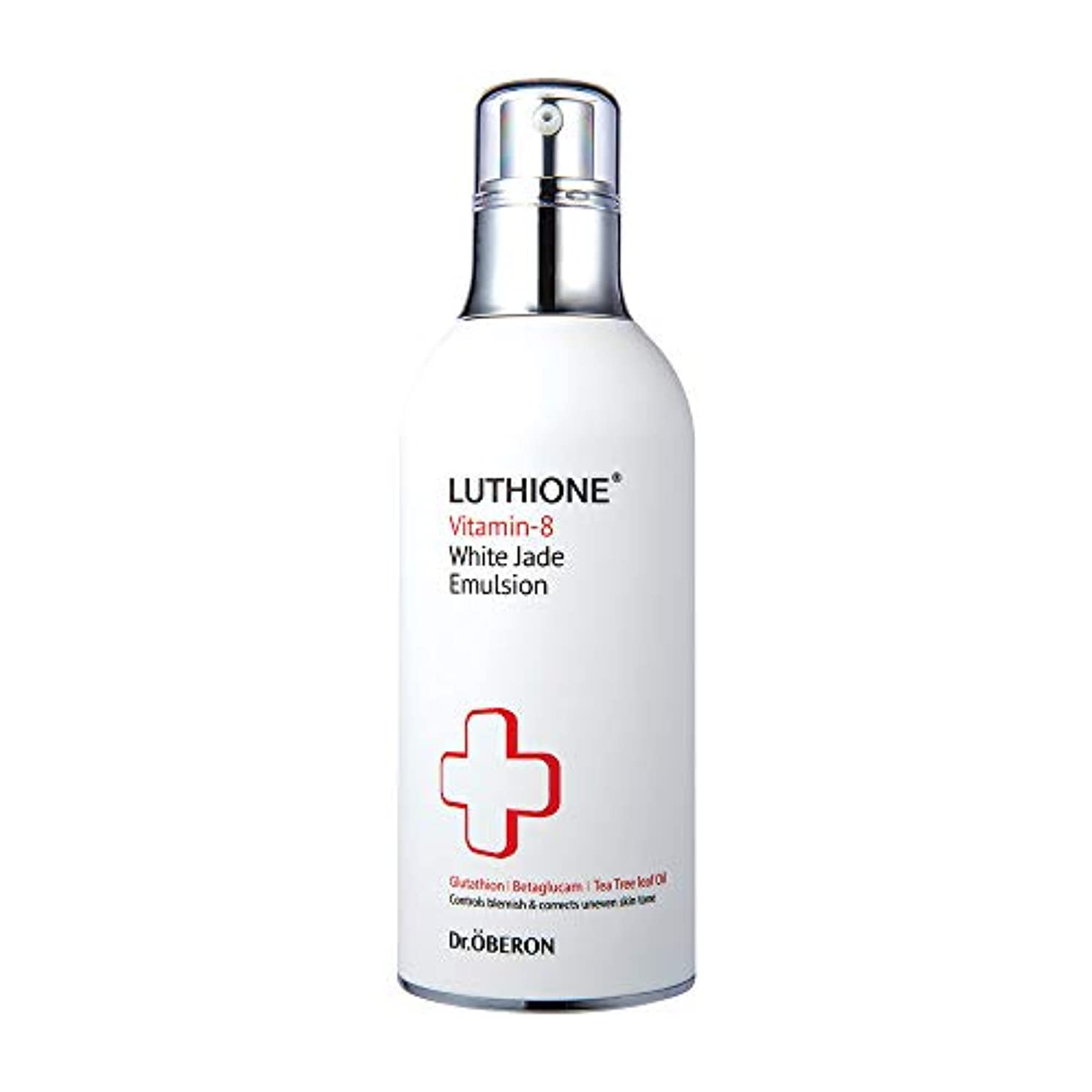 受粉者不機嫌そうな家主[Luthione] ルチオン ビタミン-8 白玉 エマルジョン 3.5 oz Vitamin-8 White Jade Emulsion 3.5 oz - Hydrating Moisturizer Lightening Boost Skin Toner with 8 Vitamins and Glutathione Korean Skin Care