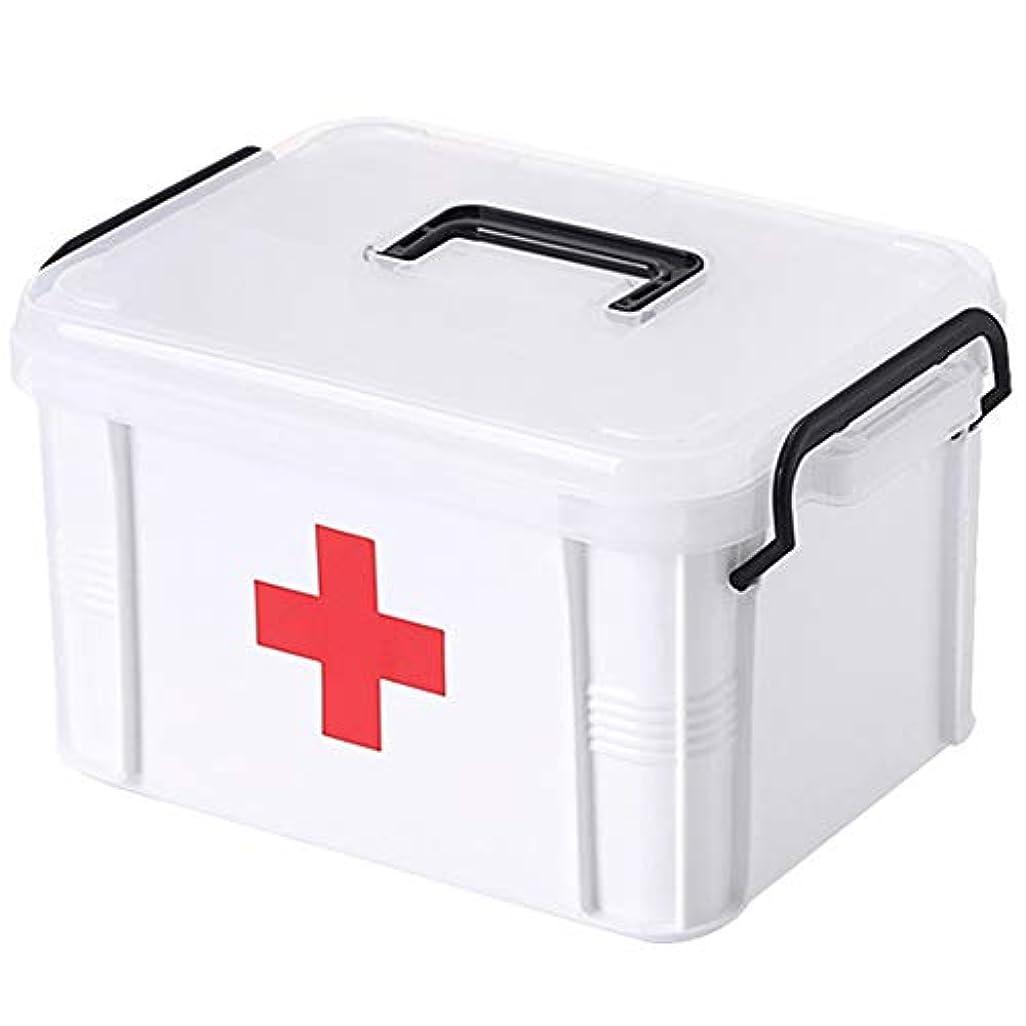 公平な噂階下YD 救急箱 医療用ボックス-PPプラスチック、厚い環境保護、転倒防止、耐久性、軽量で持ち運びが簡単、家庭用医療キット、子供用薬キット、医薬品、医療救急箱、薬収納ボックス、-3サイズ /& (サイズ さいず : 16.5*14.5*13cm)