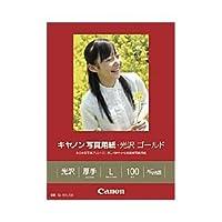 (業務用セット) キヤノン(Canon) 写真用紙・光沢 ゴールド L判 1箱(100枚) 【×3セット】 ds-1643154