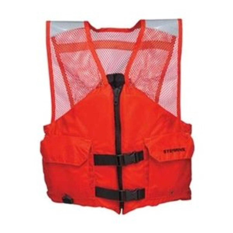 Flotation Vest, Orange, Nylon, XL by Stearns