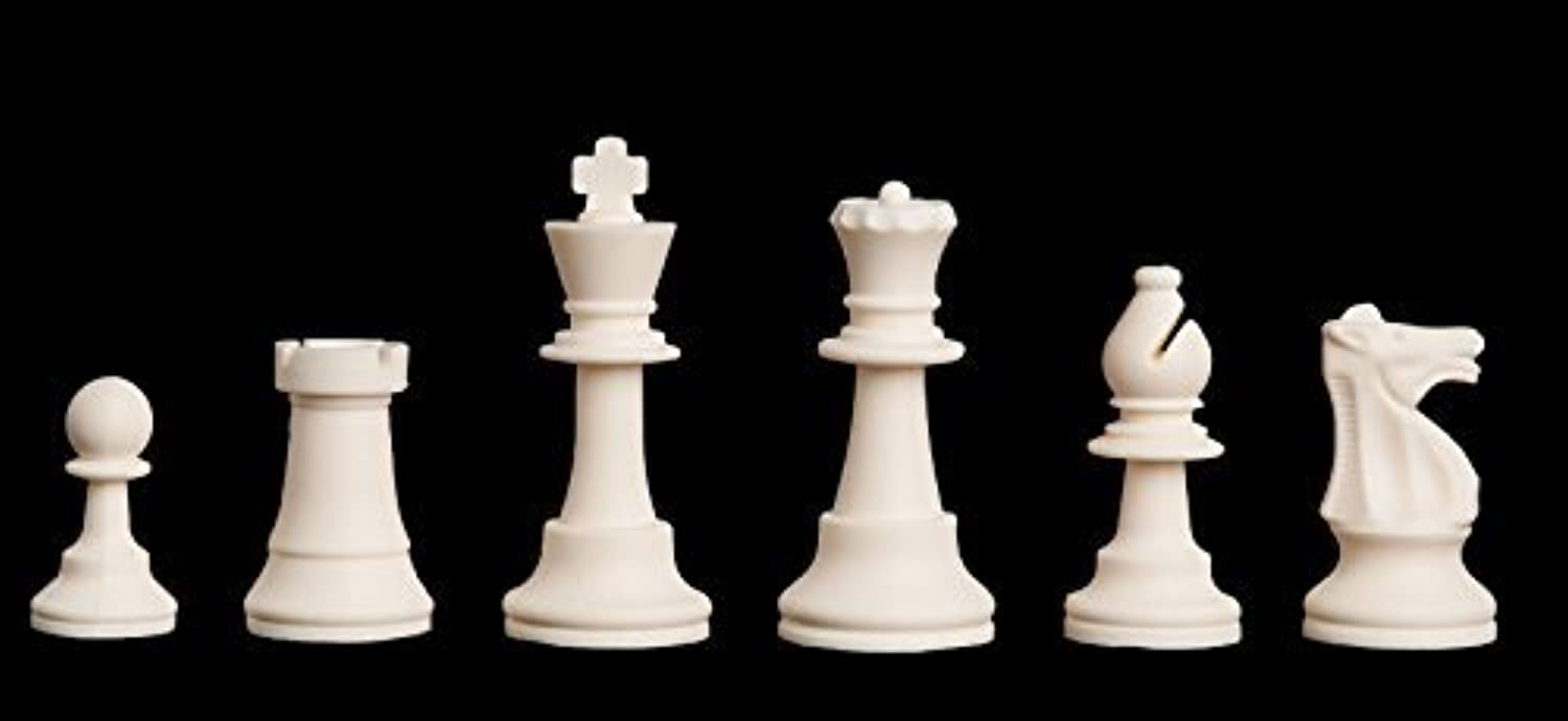 Regulation Silicone Tournament Chess Set - 3.75 King by