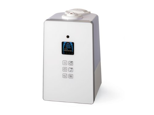 AL COLLE 【超音波式+ヒーター式のハイブリッドタイプ】ハイブリッド式加湿器 ホワイト ASH601W