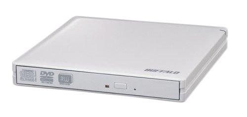 BUFFALO USB2.0用 外付けポータブルDVDドライブ DVSM-PN58U2V-WH