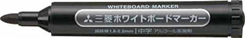 uni 三菱鉛筆/ホワイトボードマーカー/中字/黒 PWB4M.24