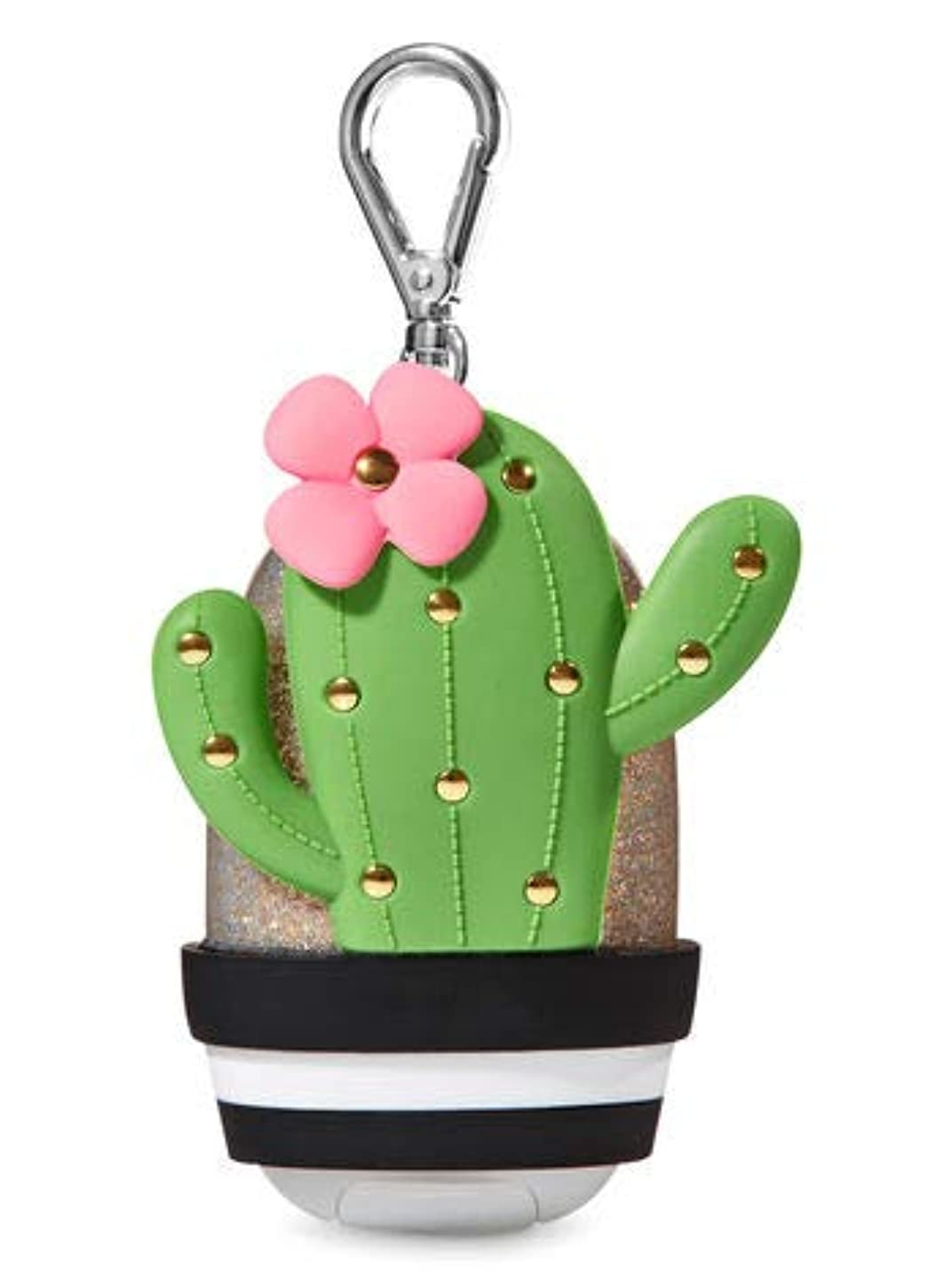 休憩剛性徹底【Bath&Body Works/バス&ボディワークス】 抗菌ハンドジェルホルダー カクタス Pocketbac Holder Cactus [並行輸入品]
