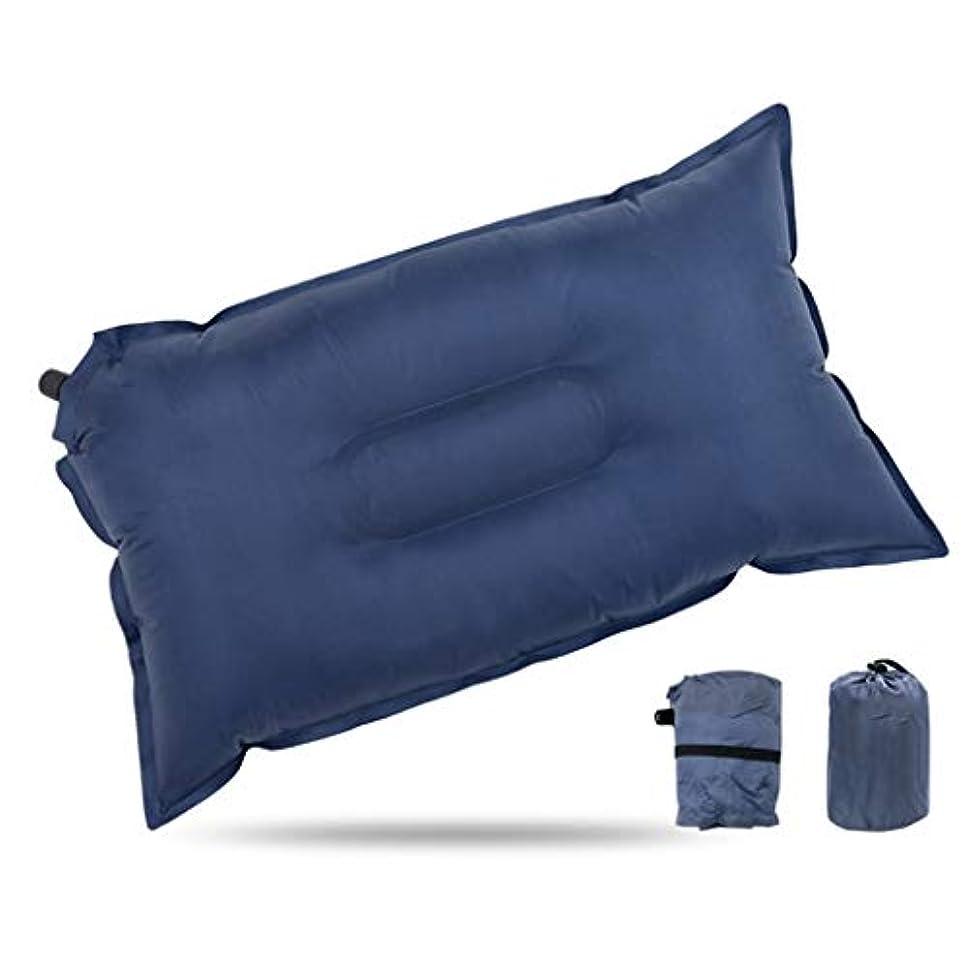 謝るテラス会計士インフレータブルキャンプ旅行枕、人間工学に基づいたインフレータブル枕超軽量コンパクトで快適な首と腰サポートキャンプバックパック旅行と道路旅行