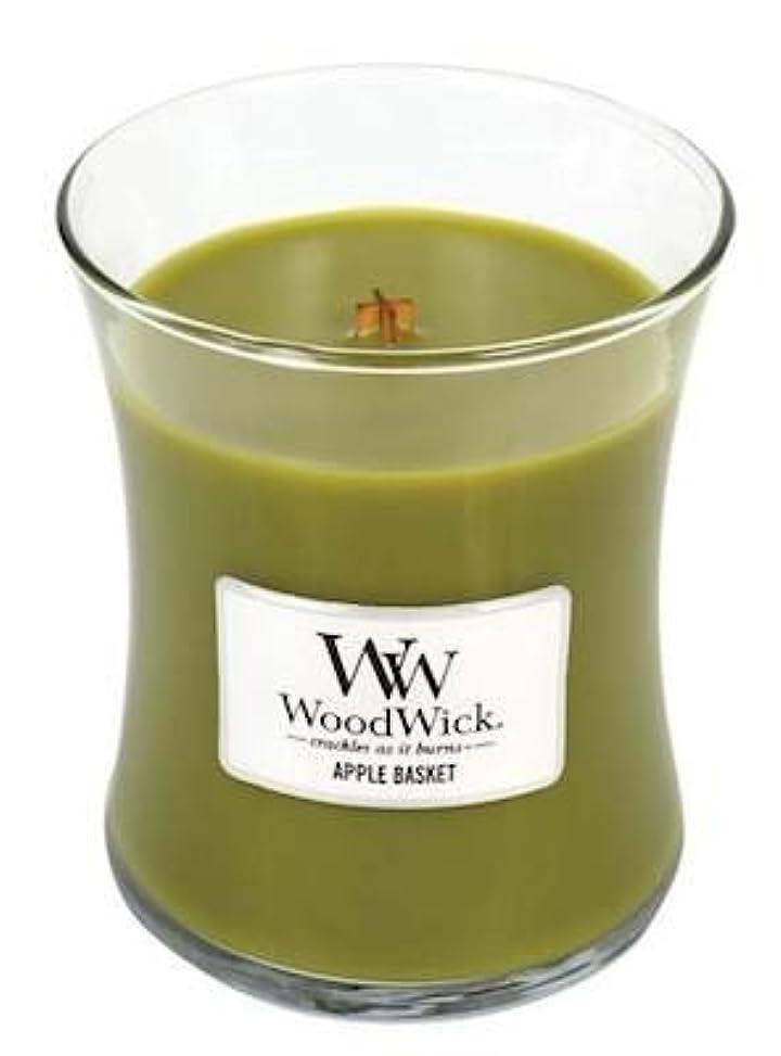 渇き振る舞う肩をすくめるAPPLE BASKET – WoodWick 10オンス Mサイズジャー キャンドル 燃焼 100時間。