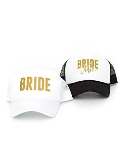 Bachelorette Party Hats花嫁Tribe and Bride Bacheloretteアクセサリー???[個別販売]