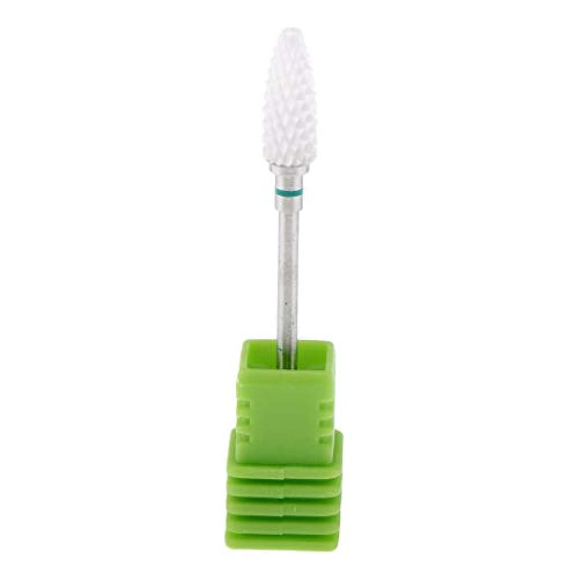 カバー適切な必要とするToygogo ネイルドリルビット 研磨ヘッド 爪やすり 角質除去 爪磨き ネイルアート 全3色 - 緑(粗)