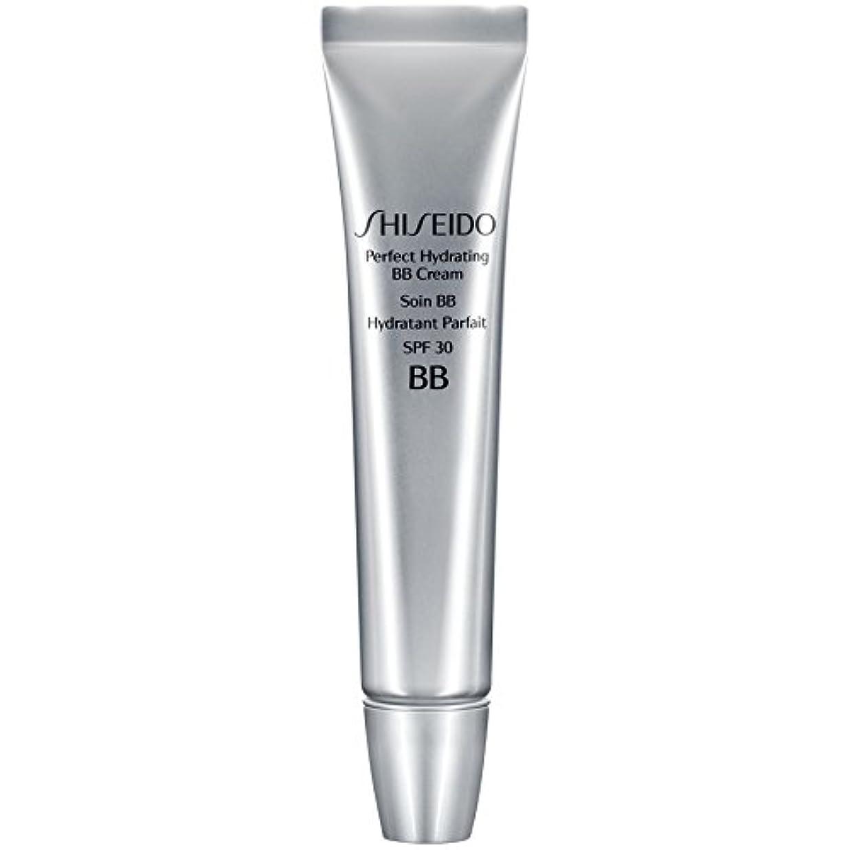 水没左ブラインド[Shiseido ] 資生堂完璧な水和BbクリームSpf 30 30ミリリットルの暗いです - Shiseido Perfect Hydrating BB Cream SPF 30 30ml Dark [並行輸入品]