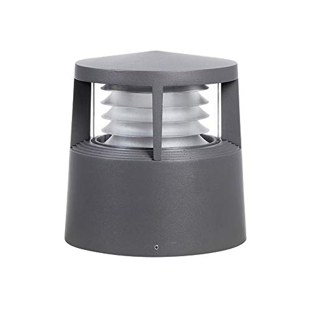 洗練された闇努力Pinjeer E27モダンシンプルな防水屋外PCのポストライティング高さ21センチメートルメタルアルミコラムランプヴィラホームストリートガーデンコートヤードデコーディング照明ピラーライト