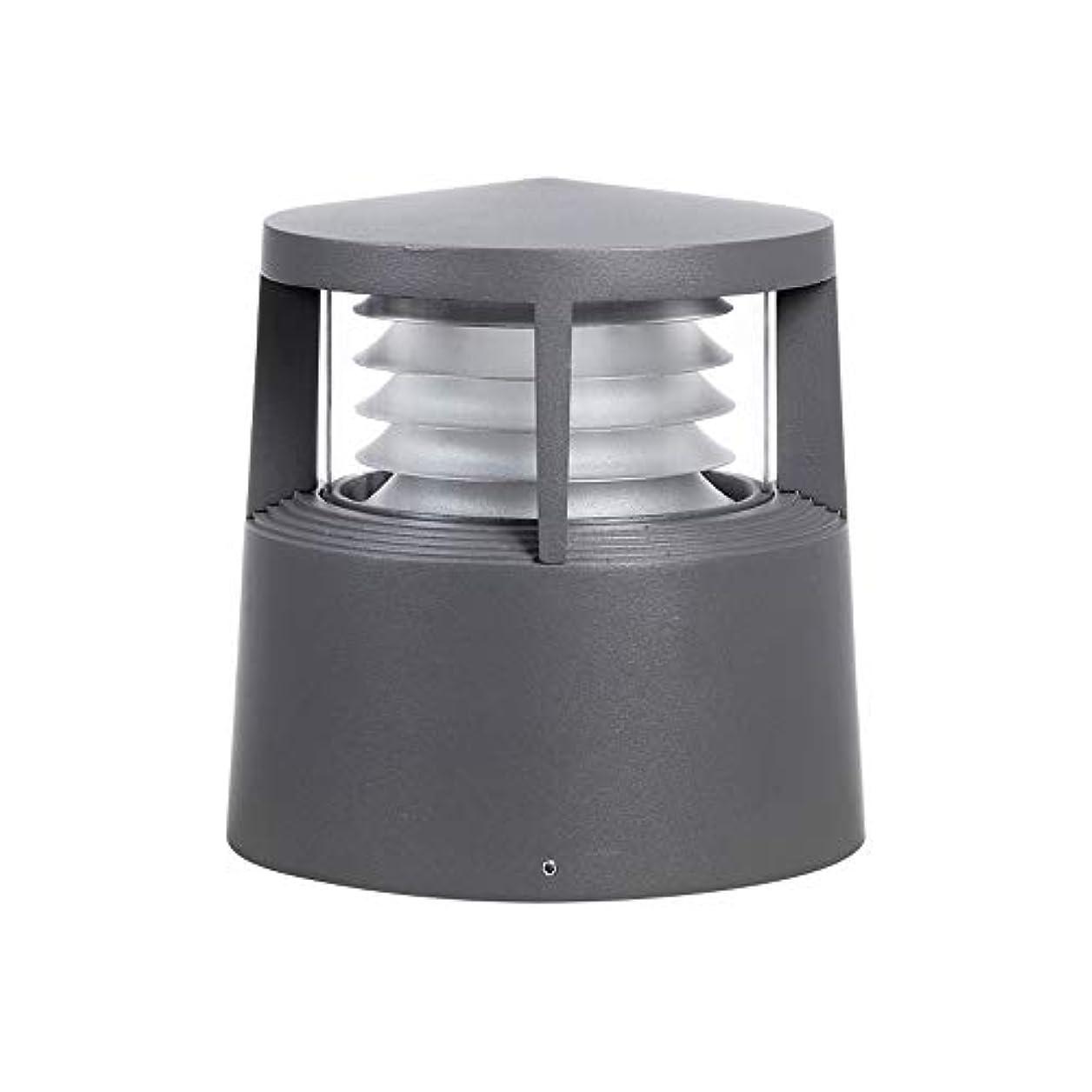 低いクライマックス良性Pinjeer E27モダンシンプルな防水屋外PCのポストライティング高さ21センチメートルメタルアルミコラムランプヴィラホームストリートガーデンコートヤードデコーディング照明ピラーライト