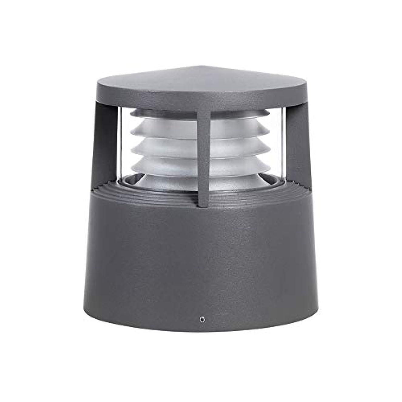 最終話す寄付Pinjeer E27モダンシンプルな防水屋外PCのポストライティング高さ21センチメートルメタルアルミコラムランプヴィラホームストリートガーデンコートヤードデコーディング照明ピラーライト