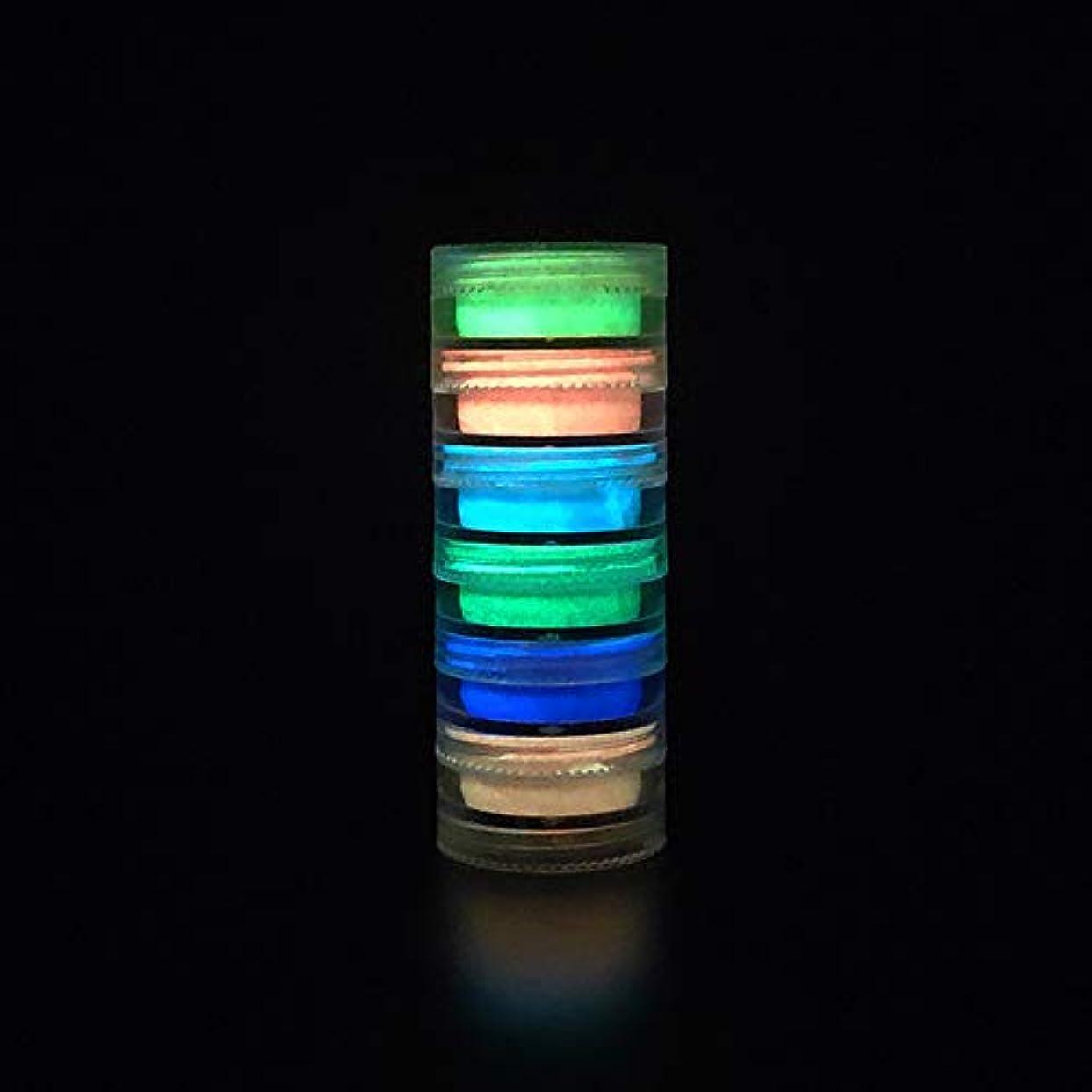 ピストンメロディアスグラマーMurakush ネイルアート 6個 蛍光装飾 パウダー ネイルアート コーティング ルミナス ブライト ナイトライトパウダー 3#