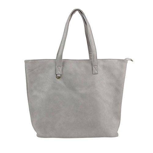 [해외]심플 세련된 A3 수납 대용량 PU 가죽 토트 백 지퍼 개폐 남성 여성 토트 백/Simple Fashionable A3 Storage Large Capacity PU Leather Tote Bag Zip Opening Men`s Women`s Tote Bag