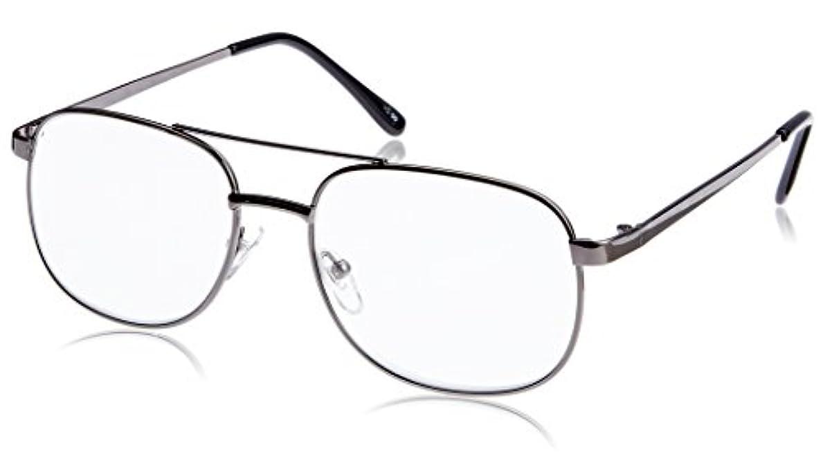 エピソード誇張今まで藤田光学 老眼鏡 メンズ +1.0 度数 メタルフレーム ガンメタル K-16+1.00