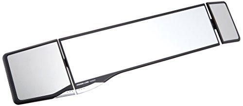 カーメイト 車用 ルームミラー グローバル 270mm+80mm+50mm 曲面鏡 ブラック PL104
