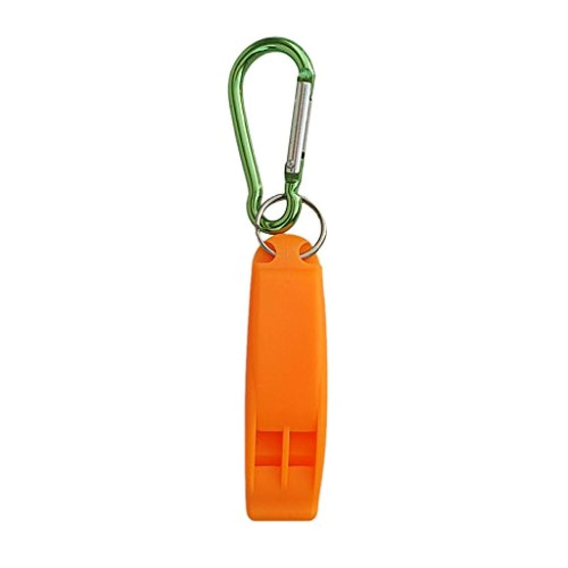 妖精上流の枯渇するFlameer ポータブル 1ピース 緊急 スキューバ ダイビング 安全 ホイッスルフック付き 屋外ホイッスル 全3色
