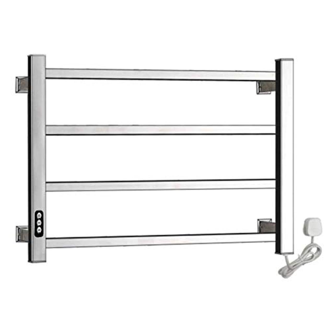 304ステンレス鋼電気タオルウォーマー、加熱タオルラックラジエーター、壁掛け式浴室乾燥ラック、恒温乾燥、防水および防錆、450X600X110mm