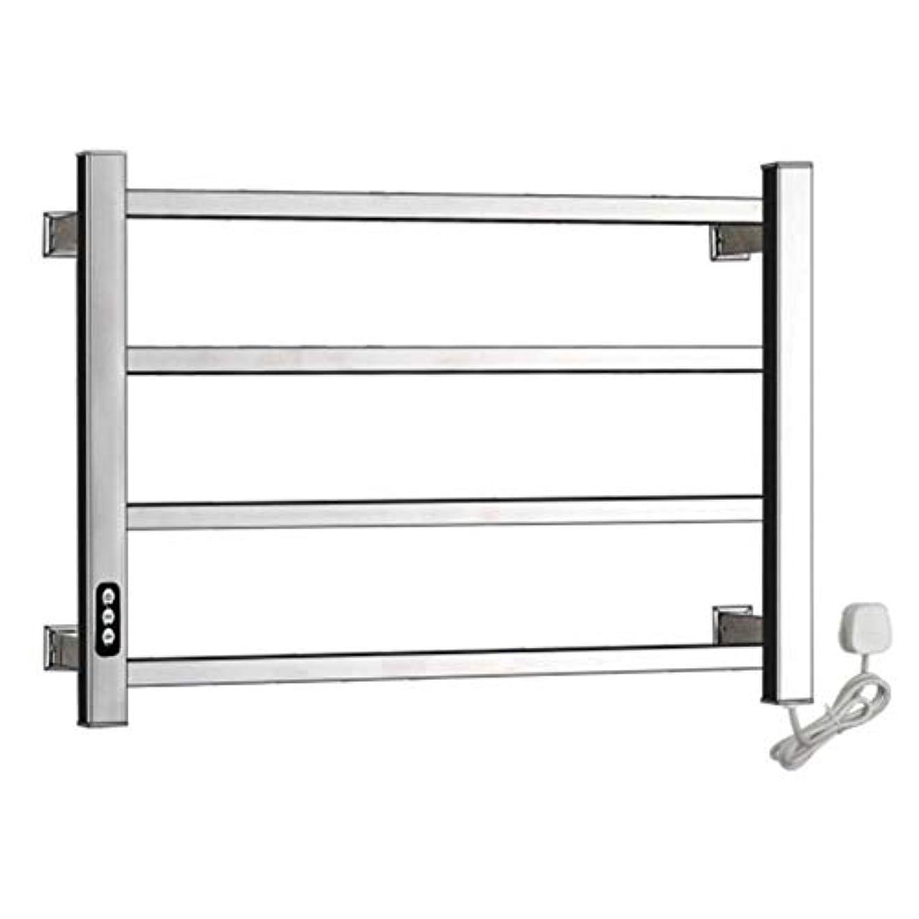 デッドデッドスカイ304ステンレス鋼電気タオルウォーマー、加熱タオルラックラジエーター、壁掛け式浴室乾燥ラック、恒温乾燥、防水および防錆、450X600X110mm