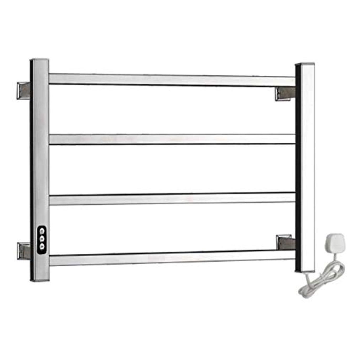 ひばり求める彼の304ステンレス鋼電気タオルウォーマー、加熱タオルラックラジエーター、壁掛け式浴室乾燥ラック、恒温乾燥、防水および防錆、450X600X110mm