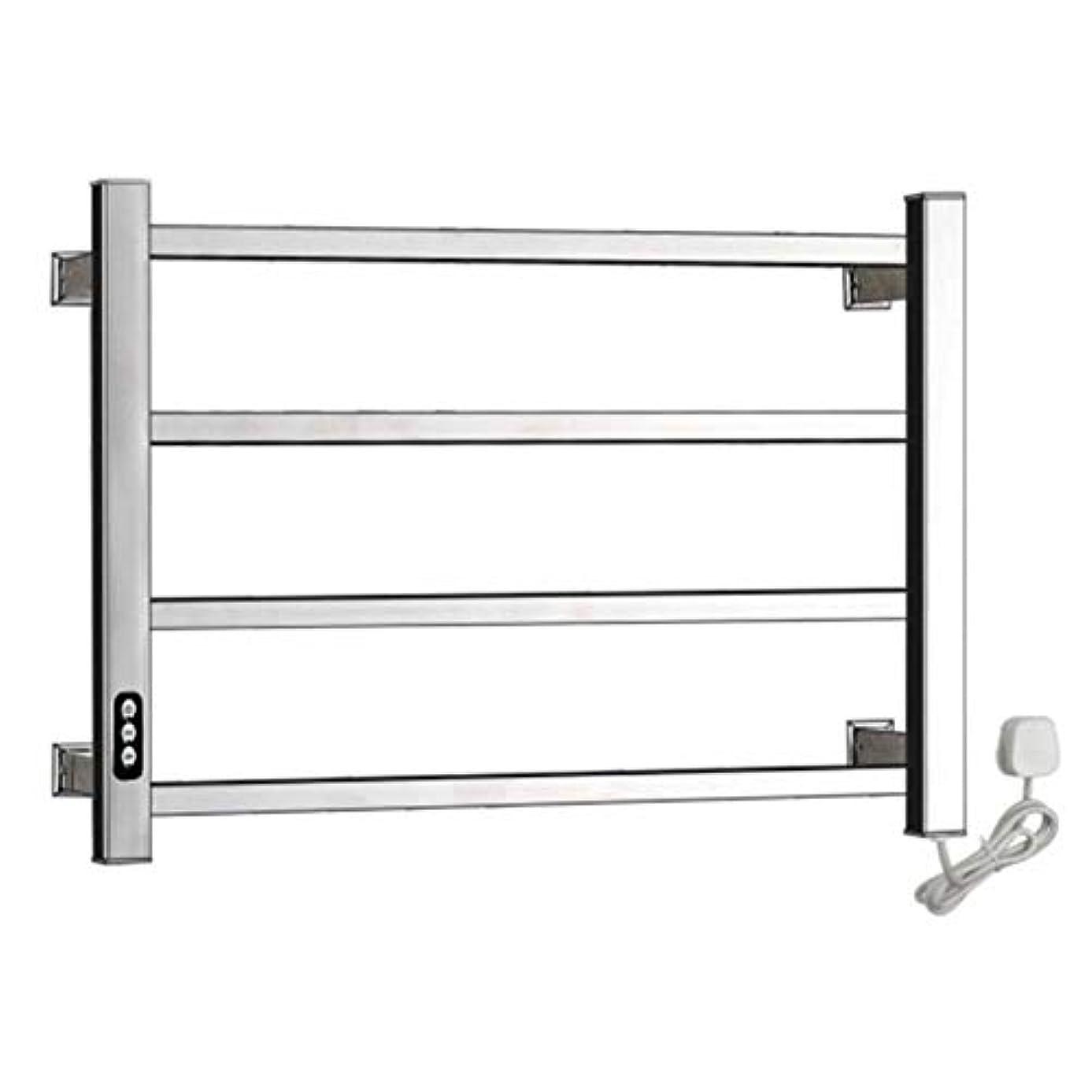 シェーバーデンプシー郵便屋さん304ステンレス鋼電気タオルウォーマー、加熱タオルラックラジエーター、壁掛け式浴室乾燥ラック、恒温乾燥、防水および防錆、450X600X110mm