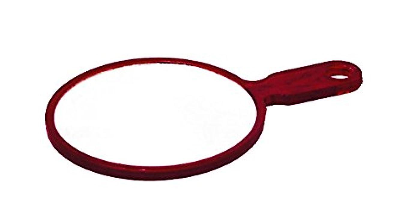コンペ徐々に周囲鏡 ハンドミラー No.402 ブラウン