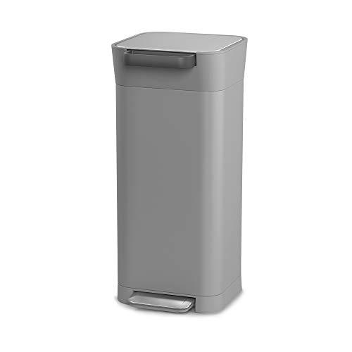 Joseph Joseph ペダル式ゴミ箱 ペブル 20L ゴミを1/3に圧縮するゴミ箱 クラッシュボックス 30052