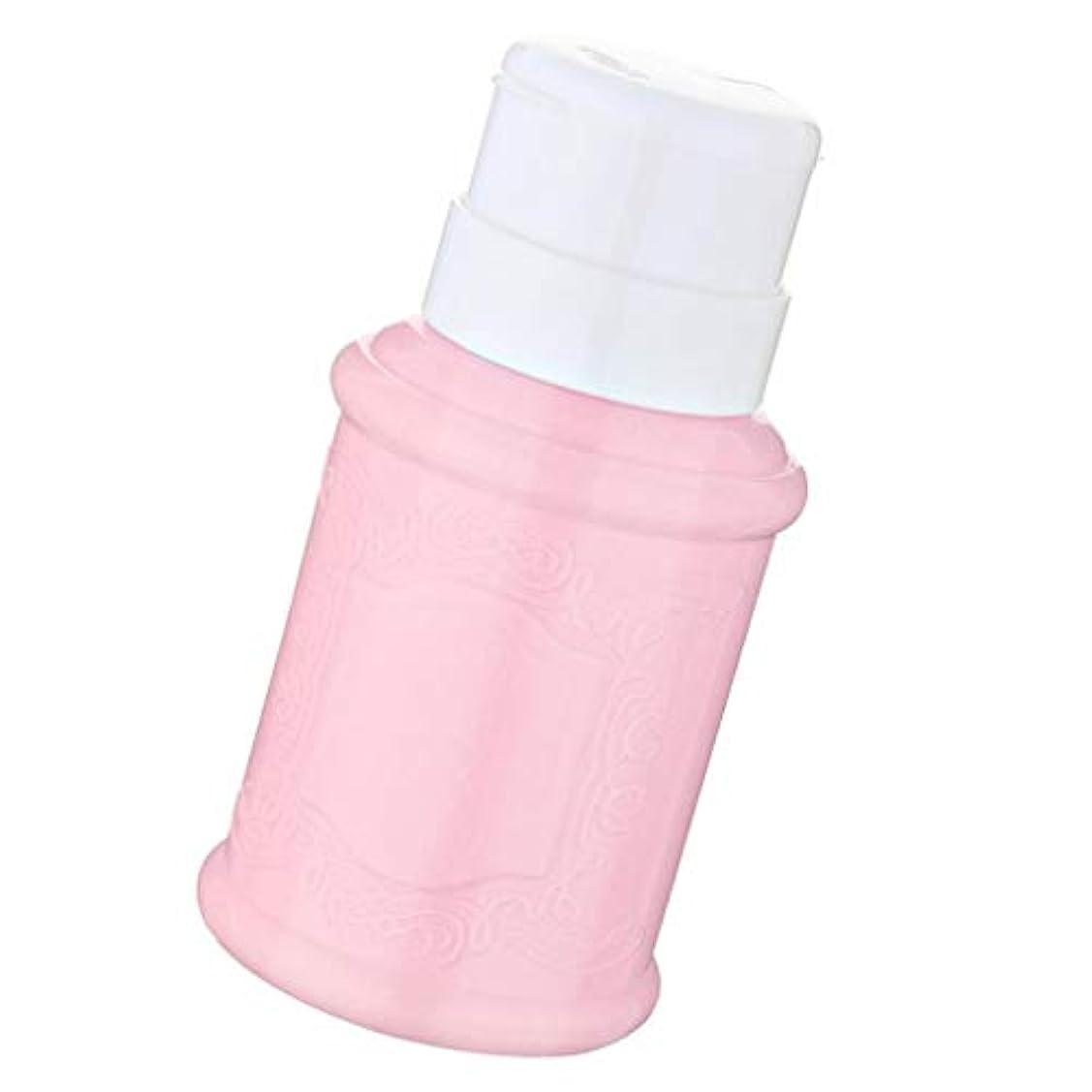 花婿かろうじて弱めるSM SunniMix 空ポンプ ボトル ネイルクリーナーボトル ポンプディスペンサー ジェルクリーナー 全3色 - ピンク