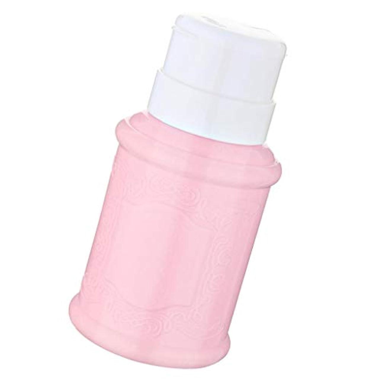 獣苦痛爆発するSM SunniMix 空ポンプ ボトル ネイルクリーナーボトル ポンプディスペンサー ジェルクリーナー 全3色 - ピンク