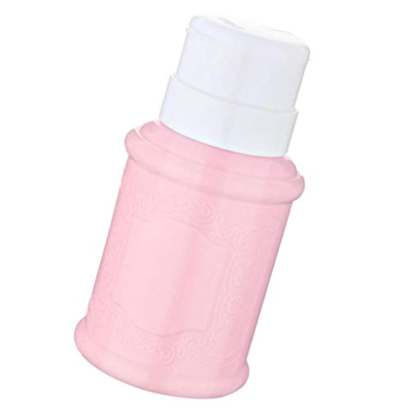 ささいな誇り麺SM SunniMix 空ポンプ ボトル ネイルクリーナーボトル ポンプディスペンサー ジェルクリーナー 全3色 - ピンク
