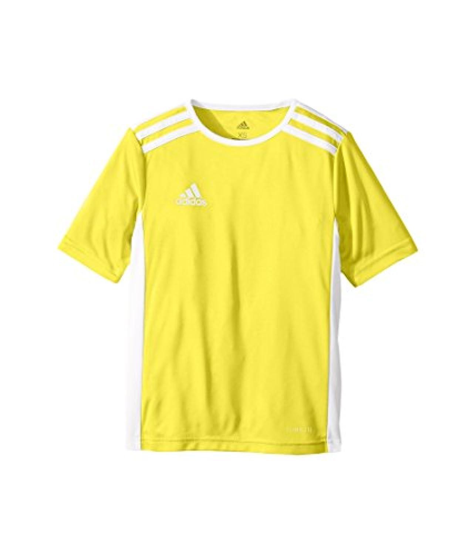 (アディダス) adidas キッズTシャツ Entrada 18 Jersey (Little Kids/Big Kids) Yellow/White SM (8 Big Kids) (S) One Size