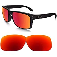 Galaxylense Men's Replacement Lenses For Oakley Holbrook Polarized Fire Red