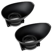 AFUNTA カメラアイカップ アイカップ アイピースカッ NIKON DSLR交換用 接眼目当て 良質 バラー製 ブラック 2個入り
