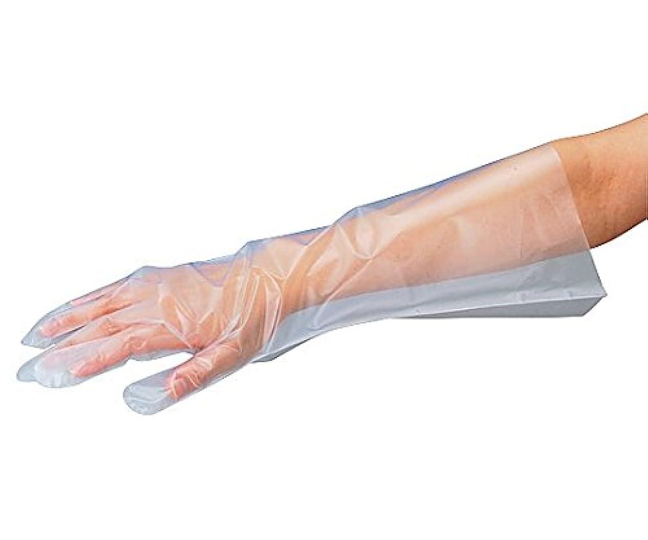 ペグ赤面海嶺アズワン8-1054-12サニメントロング手袋エンボス無M100枚入