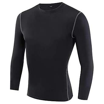 Muxuryee キッズ アンダーシャツ コンプレッションウェア インナー 冬防寒 子供用 1019ブラック120