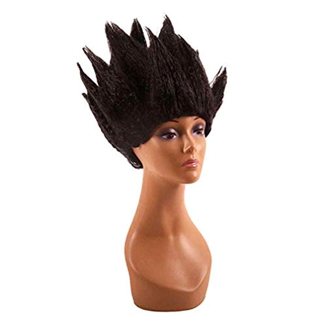 相関する急降下ロマンスハロウィンウィッグ男性女性コスプレコスチュームアニメ大人&十代の若者たち短い人工毛仮装カーニバルパーティー