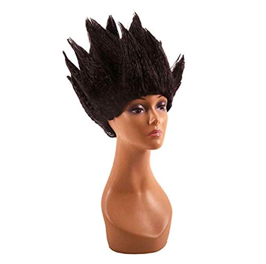 彫刻食欲電気のハロウィンウィッグ男性女性コスプレコスチュームアニメ大人&十代の若者たち短い人工毛仮装カーニバルパーティー