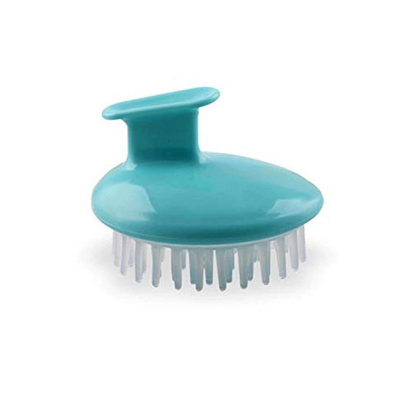 所有権モバイルおとこヘアーコーム シャンプーマッサージコーム - 男性のためのエアバッグマッサージコーム女性と子供 - 簡単にノットをDetangles 理髪の櫛 (色 : 青)