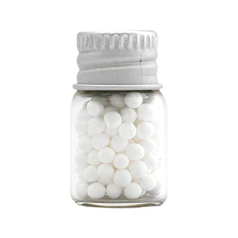 マーチャンダイザー効果寝具アロマ?エコビーズ(直径約2mm)0.5g 銀色フタ付きミニボトル入り 香りをしみこませることのできるアロマボール