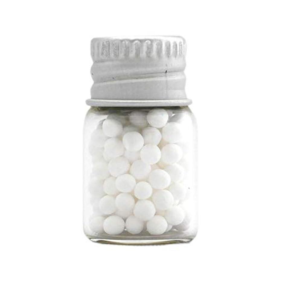 マトリックス合成元のアロマ?エコビーズ(直径約2mm)0.5g 銀色フタ付きミニボトル入り 香りをしみこませることのできるアロマボール