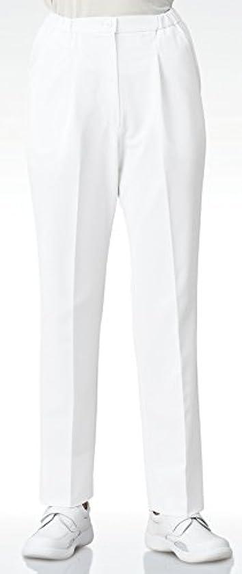 佐賀リル海港医療/介護ユニフォーム ナースウェア レディススラックス ストレートカット ホワイト KAZEN アプロン 4L  193-40