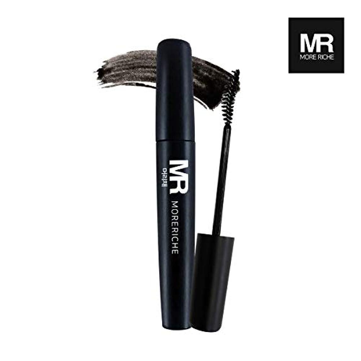 代数的人柄ヒューズ[1+1] MoreRiche ヘアマスカラカラーグレーイングヘアカバースティック Temporary Hair Mascara Color Graying hair Cover Stick, Black Color 0.44...