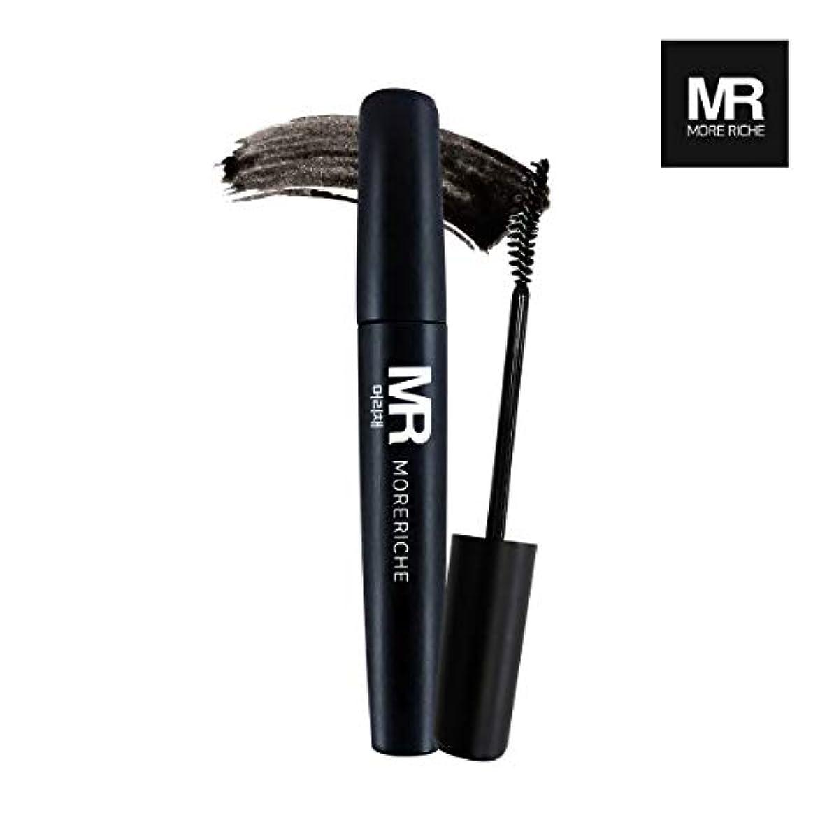 オピエートビュッフェ重くする[1+1] MoreRiche ヘアマスカラカラーグレーイングヘアカバースティック Temporary Hair Mascara Color Graying hair Cover Stick, Black Color 0.44...