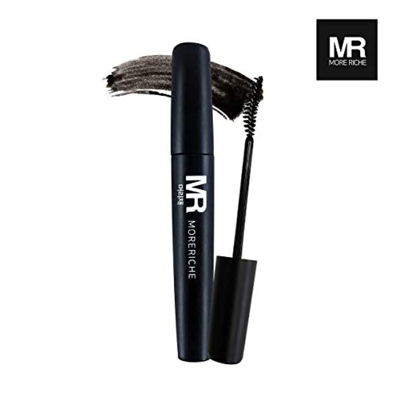 アボート大陸不良品[1+1] MoreRiche ヘアマスカラカラーグレーイングヘアカバースティック Temporary Hair Mascara Color Graying hair Cover Stick, Black Color 0.44...