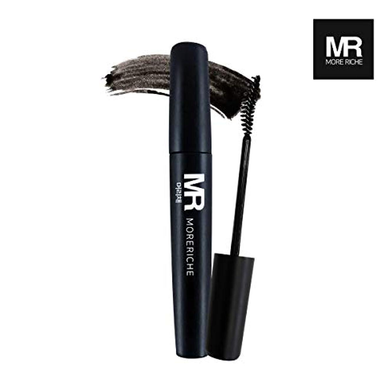 代表悲劇的な外出[1+1] MoreRiche ヘアマスカラカラーグレーイングヘアカバースティック Temporary Hair Mascara Color Graying hair Cover Stick, Black Color 0.44...