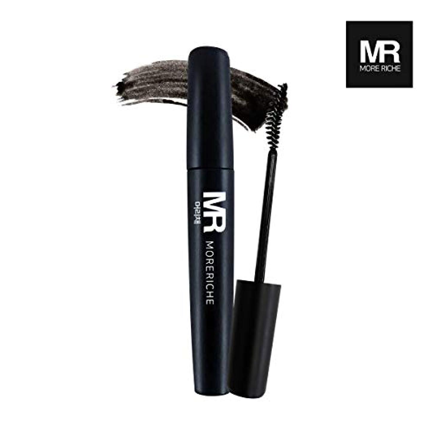 ミニチュア改修する専制[1+1] MoreRiche ヘアマスカラカラーグレーイングヘアカバースティック Temporary Hair Mascara Color Graying hair Cover Stick, Black Color 0.44...