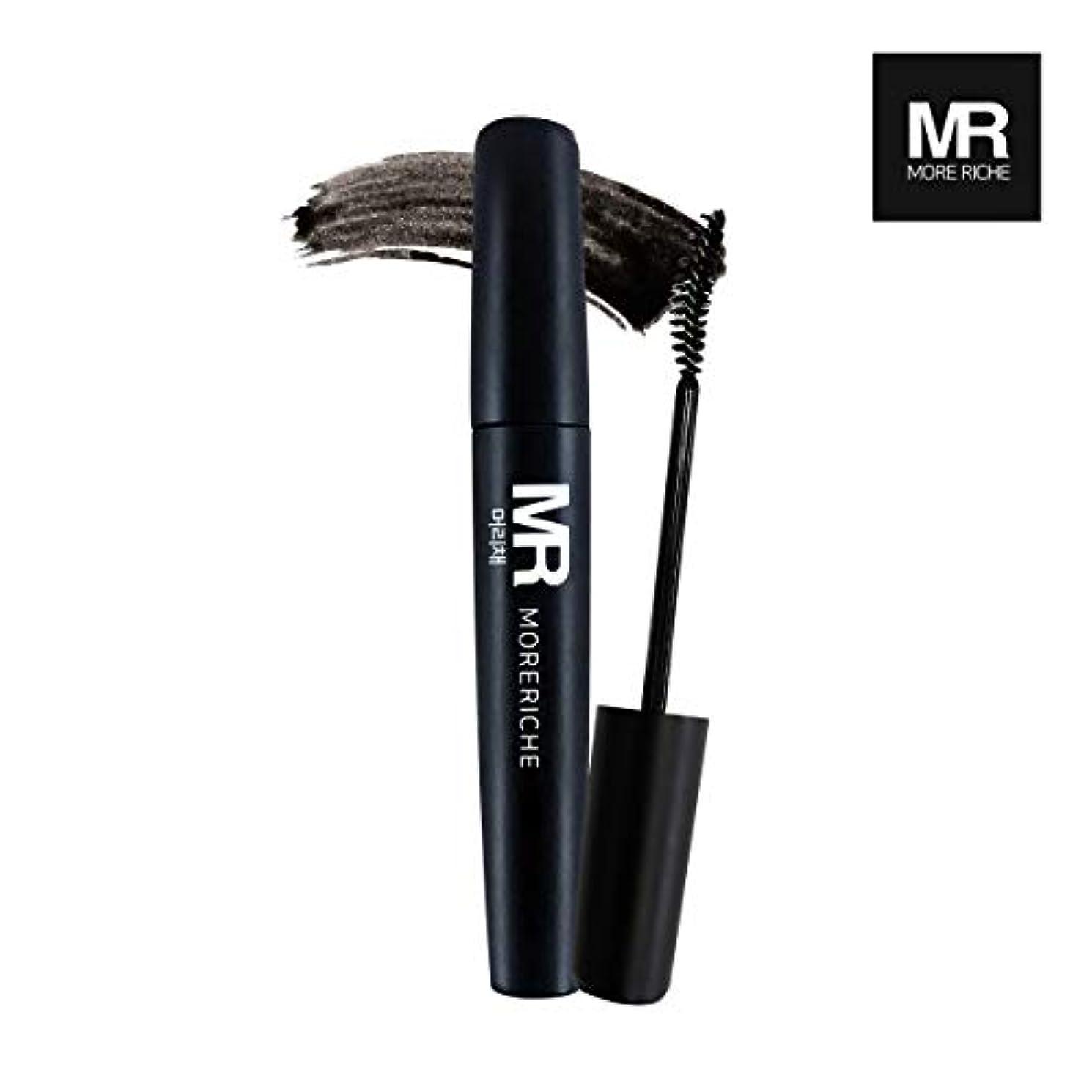航空滝わな[1+1] MoreRiche ヘアマスカラカラーグレーイングヘアカバースティック Temporary Hair Mascara Color Graying hair Cover Stick, Black Color 0.44...