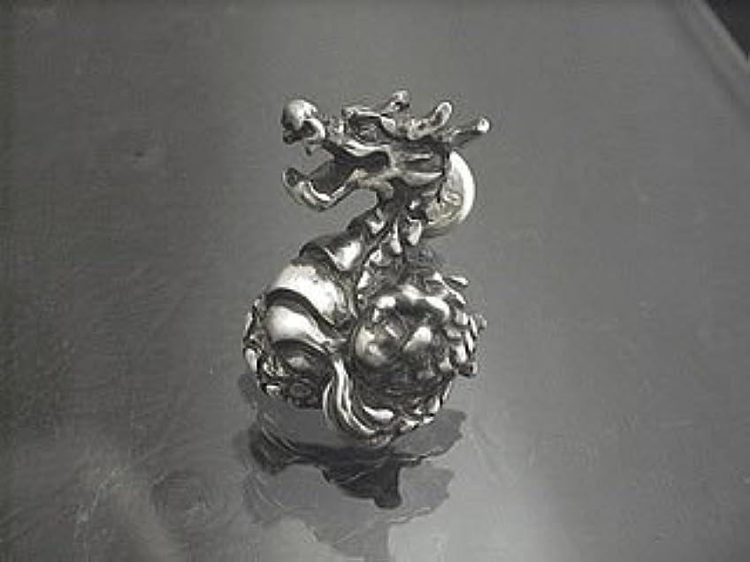 ティーンエイジャーフェリー市の中心部玉龍ピアス(1個) [和風シルバーアクセサリーLOVECRAFT(ラブクラフト)]ドラゴン 竜 メンズ 日本製